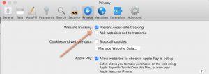 screenshot of Apple preferences