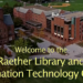 Aerial photo of Raether Library and Information Technology Center